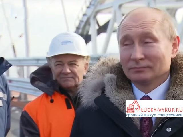 Путин общается со строителями и инженерами